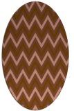 rug #648281 | oval brown retro rug