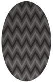rug #648285 | oval brown retro rug