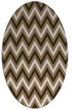 rug #648289 | oval mid-brown stripes rug