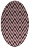 rug #648293 | oval pink retro rug