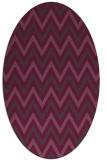 rug #648363 | oval stripes rug