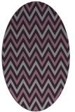 rug #648373   oval purple retro rug