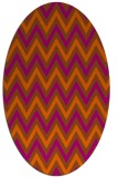 rug #648401 | oval red-orange stripes rug
