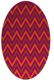 rug #648403 | oval stripes rug