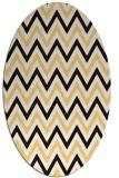 rug #648433 | oval brown stripes rug