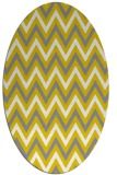rug #648437 | oval white stripes rug