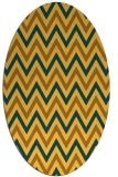 rug #648441 | oval light-orange retro rug