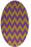 rug #648452 | oval stripes rug