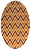 rug #648453 | oval orange stripes rug