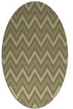 rug #648461 | oval light-green rug
