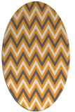 rug #648485 | oval white stripes rug