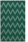 rug #648545 |  blue-green stripes rug