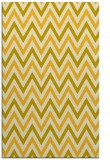 rug #648777 |  yellow retro rug