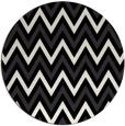 rug #648845 | round black stripes rug