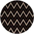 rug #648853 | round black retro rug