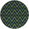 rug #648877 | round blue retro rug
