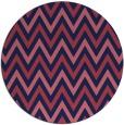 rug #648933   round blue-violet retro rug