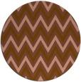 rug #648985 | round brown stripes rug