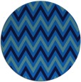 rug #649009 | round blue stripes rug