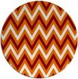 rug #649033 | round orange retro rug