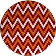 rug #649035   round retro rug