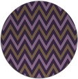 rug #649073 | round purple stripes rug