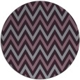 rug #649077 | round purple stripes rug