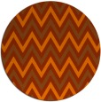rug #649097 | round red-orange retro rug