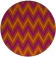 rug #649105 | round red-orange retro rug