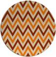 rug #649157   round orange stripes rug
