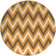 rug #649189 | round light-orange stripes rug