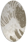 rug #649897 | oval beige graphic rug