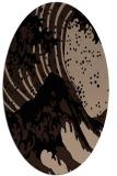 rug #649909 | oval black natural rug