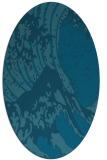 rug #649949 | oval blue-green rug