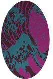 rug #649961 | oval pink graphic rug