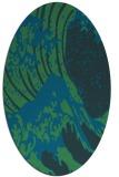 rug #649977 | oval blue popular rug