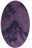 rug #649993   oval purple natural rug