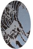 rug #650009 | oval blue-violet rug