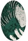 rug #650029   oval green rug