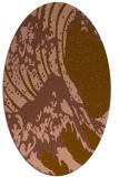 rug #650041 | oval brown graphic rug