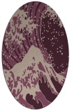 rug #650053 | oval graphic rug