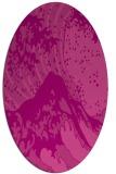 rug #650105 | oval pink graphic rug