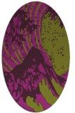 rug #650125 | oval purple rug