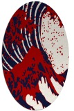 rug #650137 | oval red rug