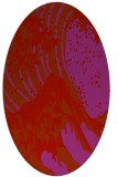 rug #650149 | oval red graphic rug