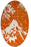 rug #650165 | oval red-orange graphic rug