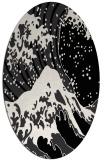 rug #650169 | oval white natural rug