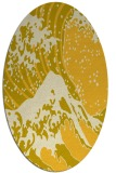 rug #650185 | oval yellow graphic rug