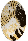 rug #650193 | oval brown graphic rug