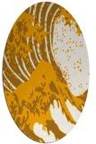 rug #650233 | oval light-orange graphic rug